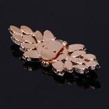 2020 New Gold Tone Rhinestone Shoe Clips Flower Glass Wedding Diamante Sparkle Fashion