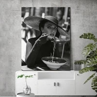 modern european fashion sexy lady photography hd black white character poster frameless home printing decorative wall painting