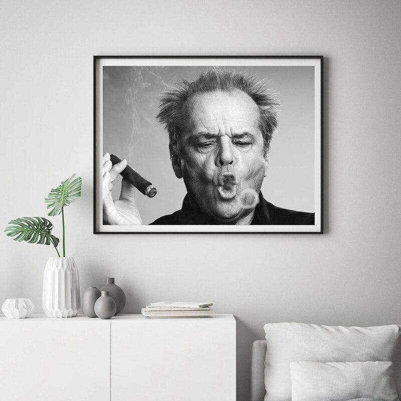 GX314 nuevo Jack Nicholson Puro Blanco y Negro pintura póster impresión lienzo pared imagen para decoración de la habitación del hogar