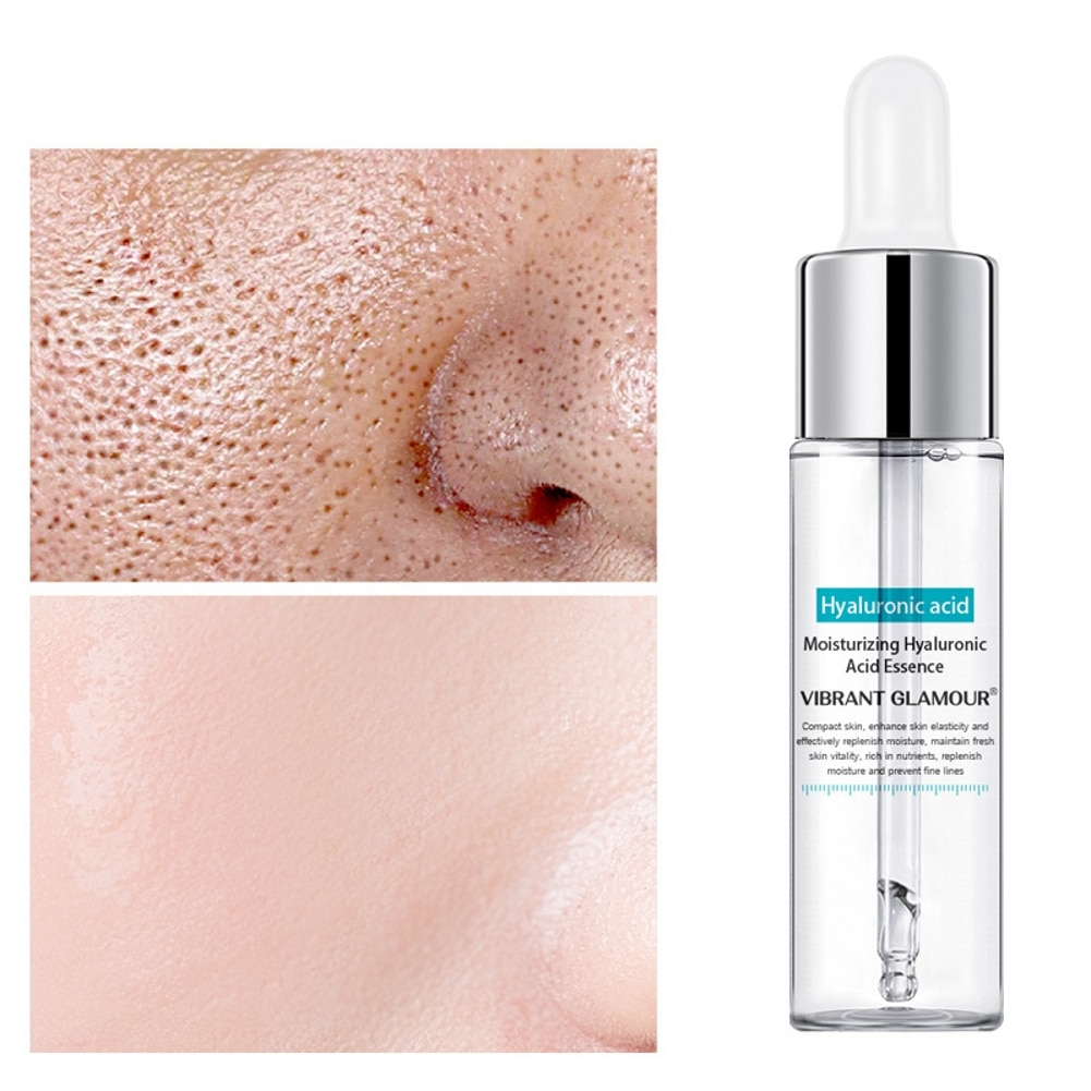 Hyaluronic Acid Face Serum Anti-Aging Shrink Pore Whitening Moisturizing Essence Face Cream Dry Skin Care 15ml недорого