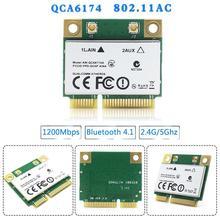 Carte Wifi sans fil double bande pour Atheros QCA6174 1200M Bluetooth PCIE 2.4G/5G Mini 4.1 Y8P4