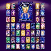 2 conjunto de cristal anjo oracle cartões inglês ler destino jogo de tabuleiro oracle jogando cartas baralho jogos para festa entretenimento pessoal