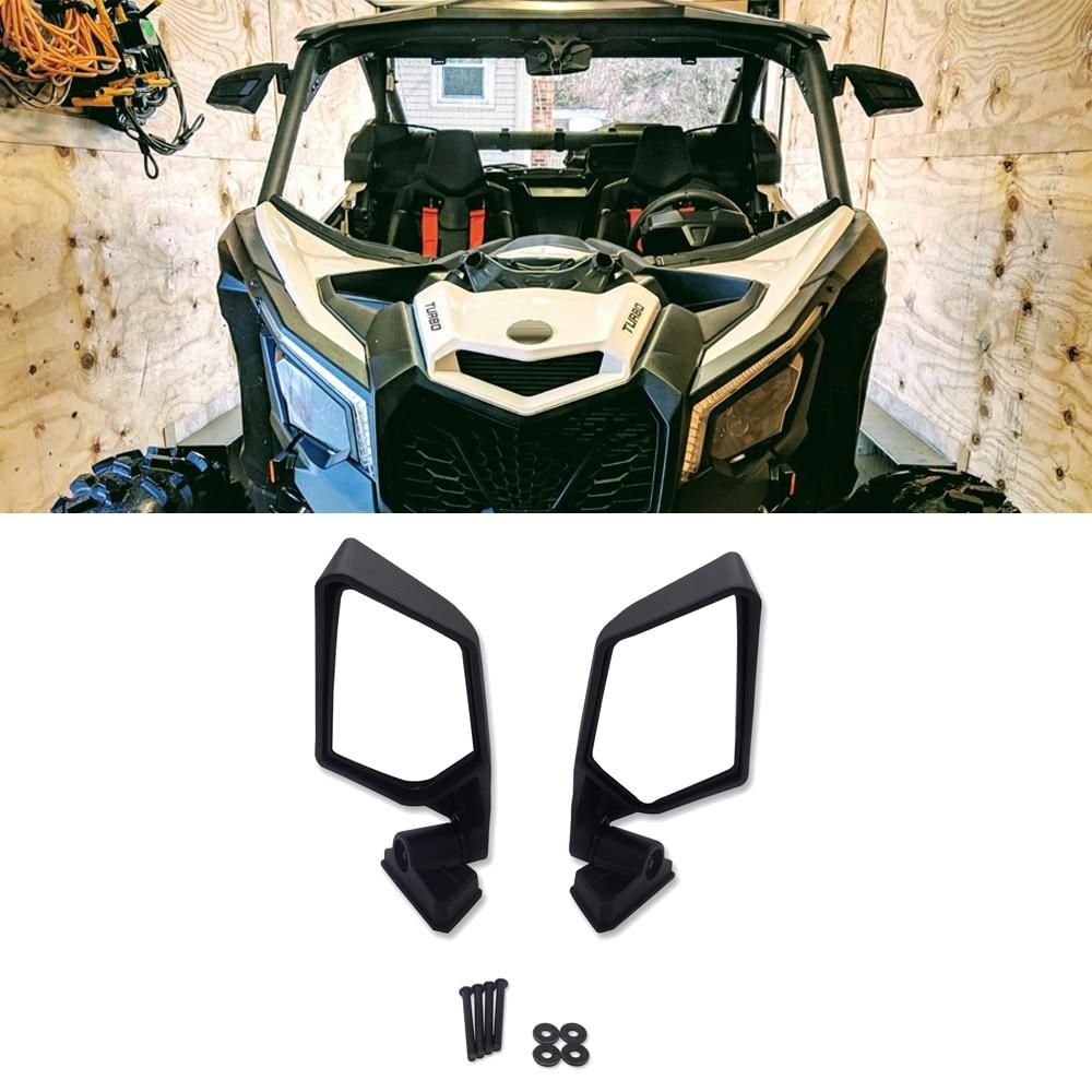 Espejos laterales de estilo de carrera de visión trasera aptos para 2017-2019 Can Am Maverick X3 xrs xds max