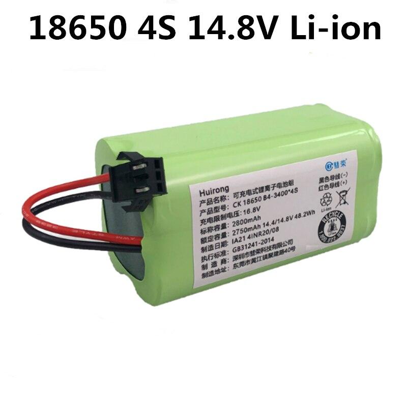 10PCS Kehrmaschine Batterie GTK wiederaufladbare li-ion 4S 1P 18650 14,8 v 2800mah 3400mah batterien auf verkauf für haushalt kehrmaschine