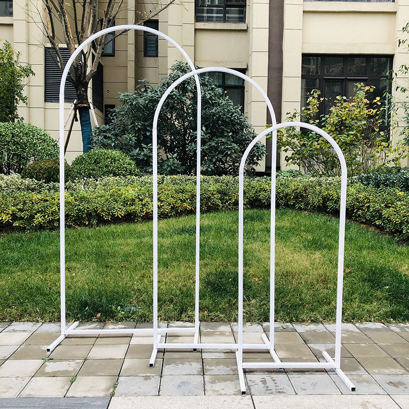 Arched Flower Rack Wedding Decoration Stage Birthday Party Background Frame Wedding Wrought Iron Flower Frame Metal Flower Arch