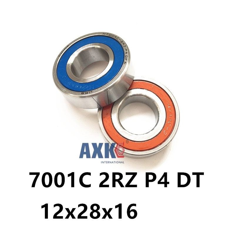 1 زوج AXK 7001 7001C 2RZ P4 DT 12x28x8 12x28x16 مختومة محامل للاتصال الزاوي سرعة المغزل محامل CNC ABEC-7