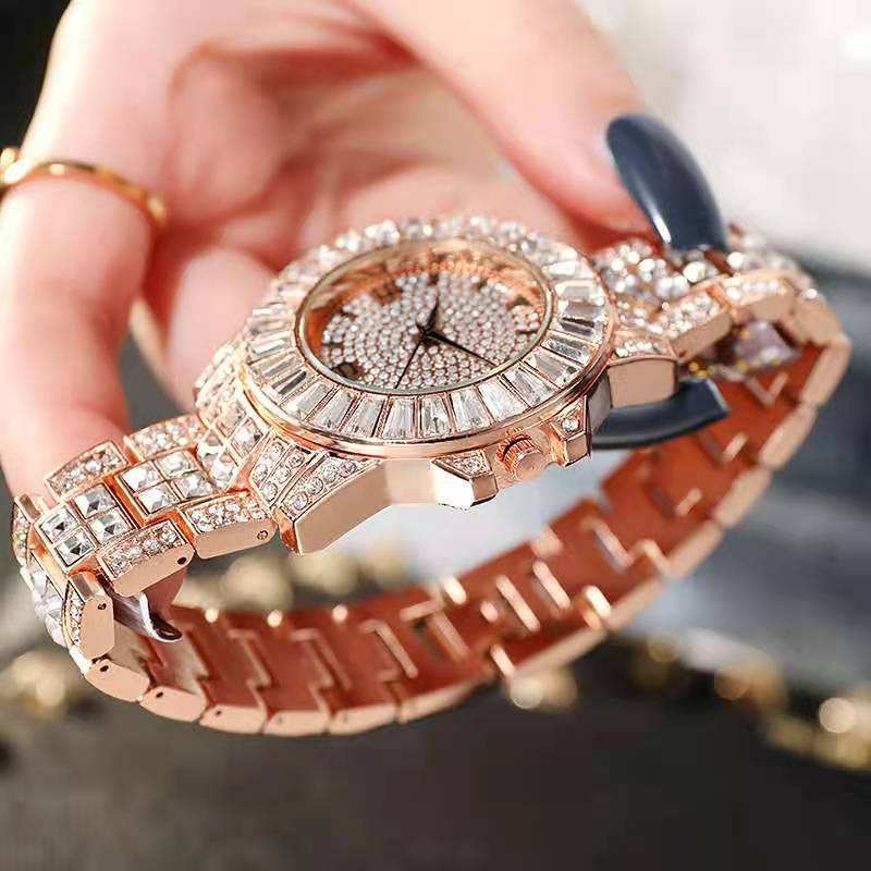 Watches for Men Women Luxury Hiphop Full Iced Out Watches Hip Hop Ropper Gold Rhinestone Quartz Wristwatch Relojes Para Mujer enlarge