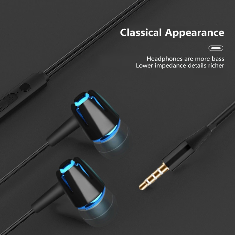 Earphone Wired Control Mobile Phone Earphone Stereo Bass Headset Sport Subwoofer With Microphone For Xiaomi наушники enlarge