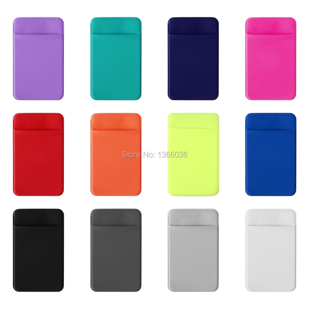 محفظة هاتف خلوي مرنة ، 200 قطعة ، عصرية ، حامل بطاقات ، لاصق ، جيب ، حامل بطاقات الائتمان