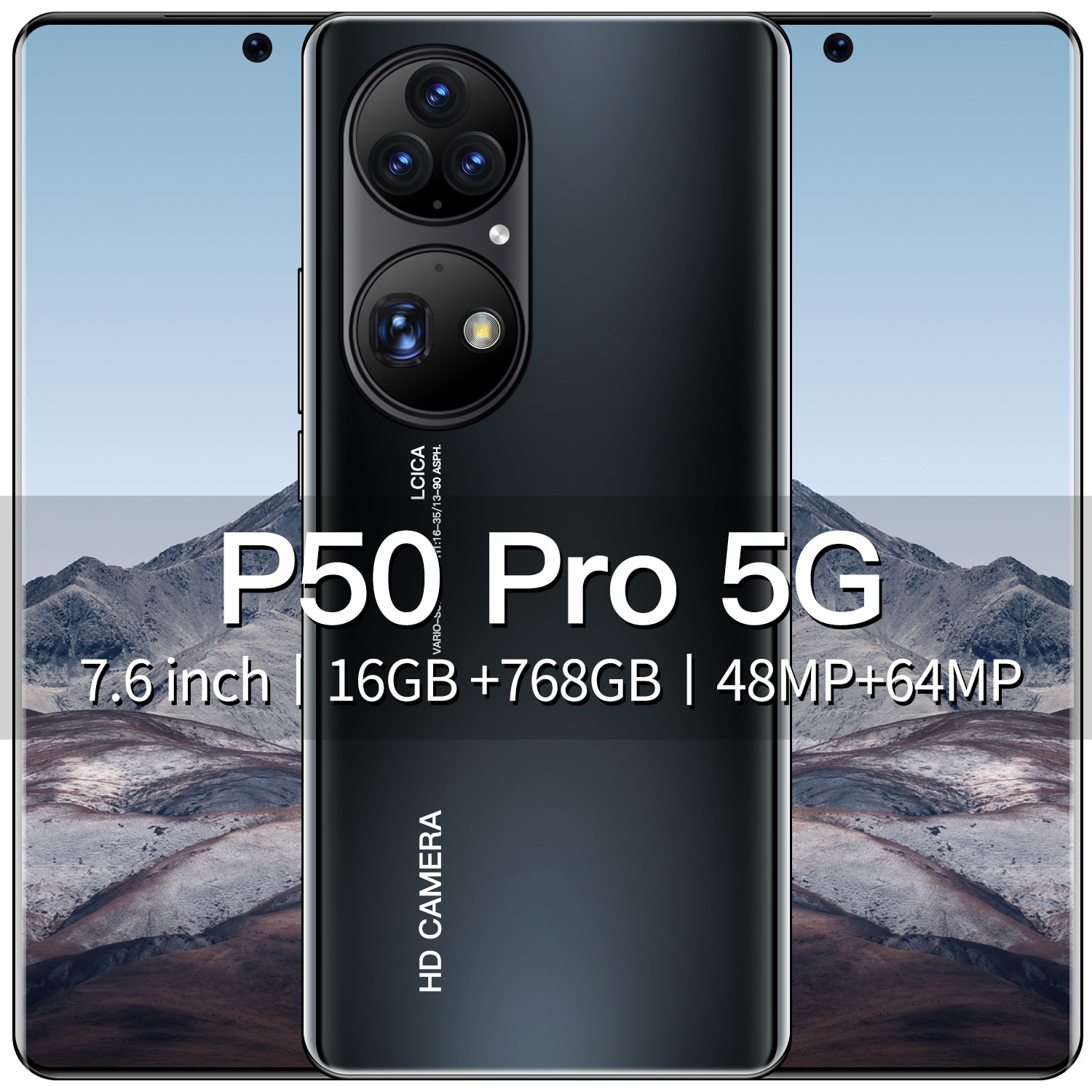 New cell phones P50 Pro, Android11.0 and 7.6Inch Full Screen 16GB+768GB Memory 5G Network Smartphone Unlocked Mobile Phones