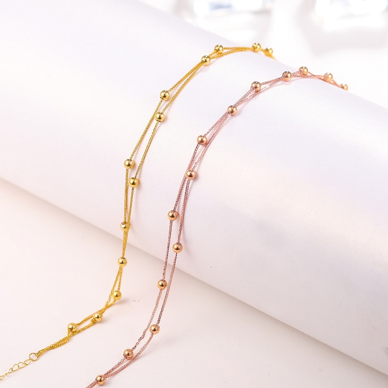 CHUHAN 18K Rose Gold Gypsophila Bracelet Au750 Real Gold Sweet Fashion Jewelry For Women Fine Party Gift Jewelry Free shipping