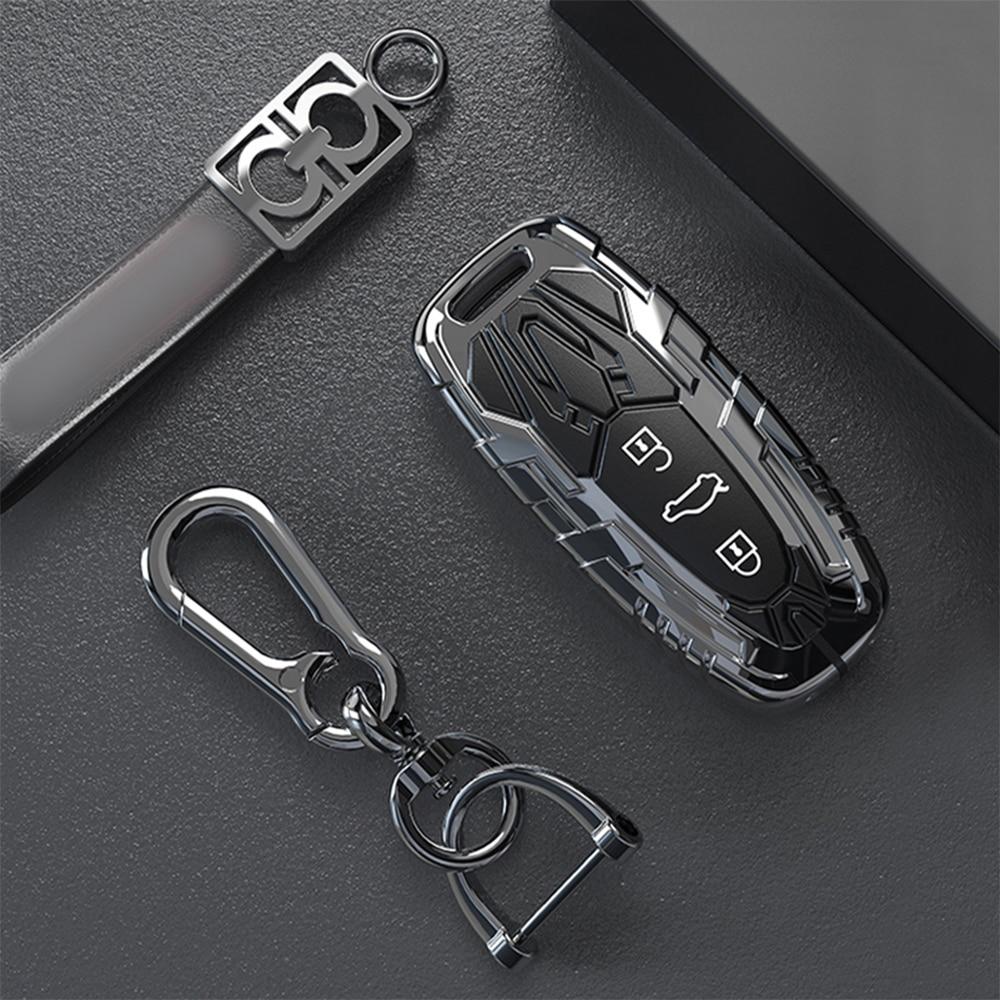 ¡Nuevo! Llavero de aleación de Zinc 3BTN con mando a distancia y llave inteligente para Audi A6L A7 A8 Q8 e-tron C8 D5 2019 2020