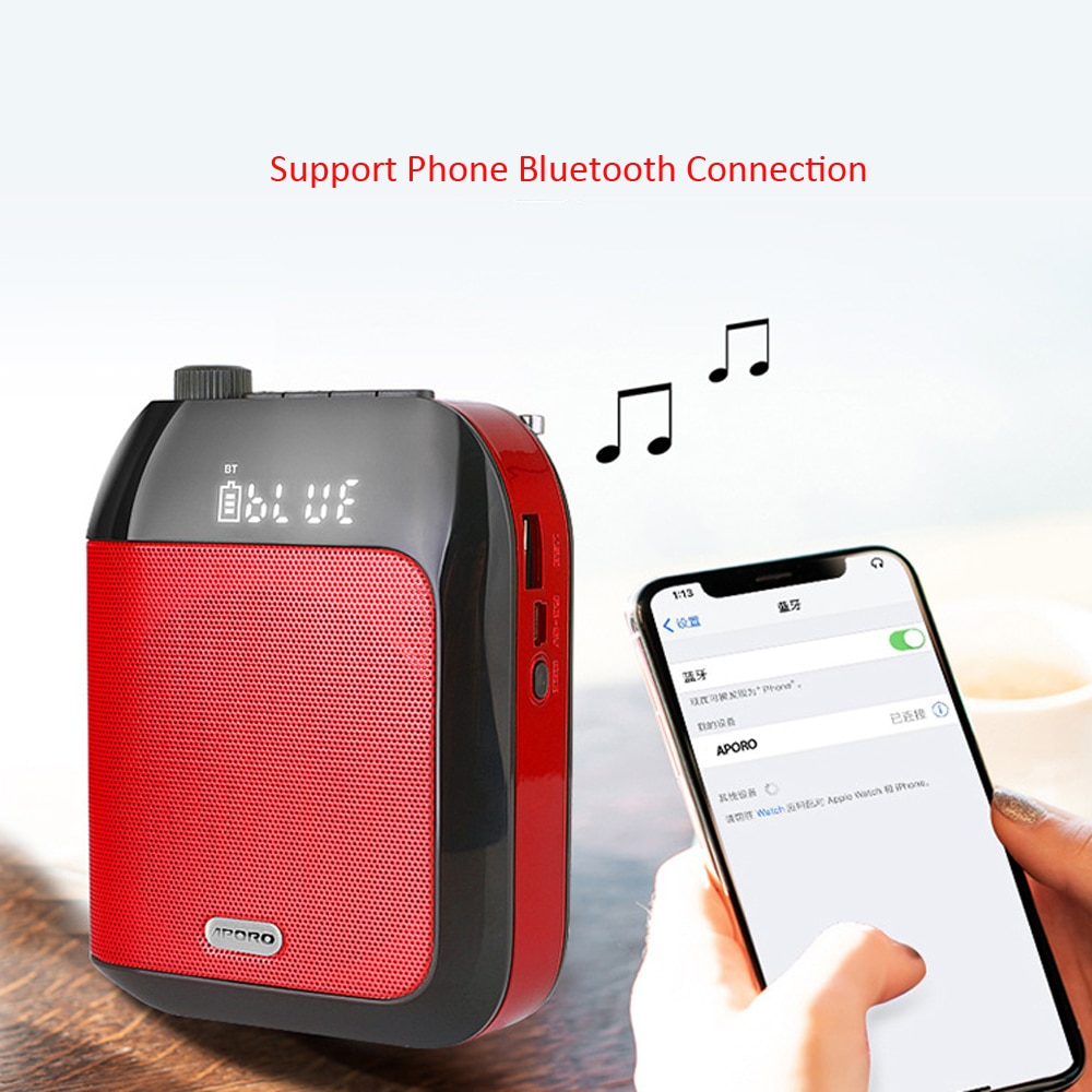 Bluetooth UHF Wireless Voice Amplifier Portable For Teaching Lecture Tour Guide Promotion U-Disk Megaphone Microphone Speaker enlarge