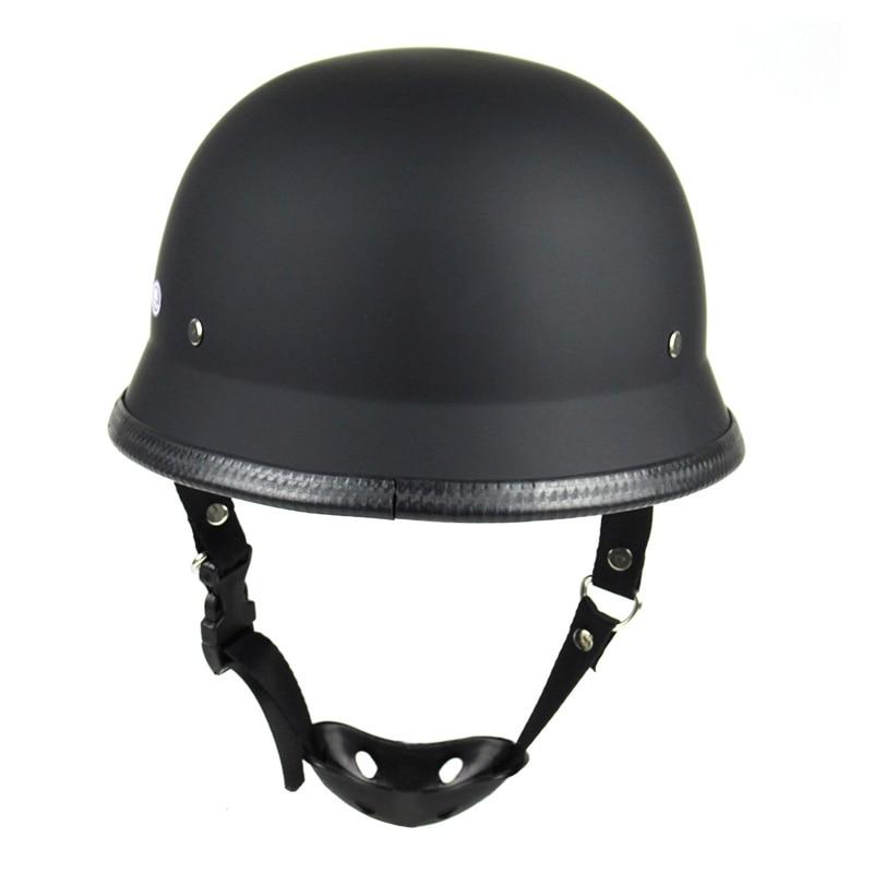 DOT motocicleta media máscara para vintage media máscara Retro alemán Chopper Cruiser Matte.