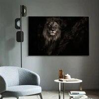Peinture a lhuile animale tete de lion gros plan toile peinture bureau salon couloir decoration murale
