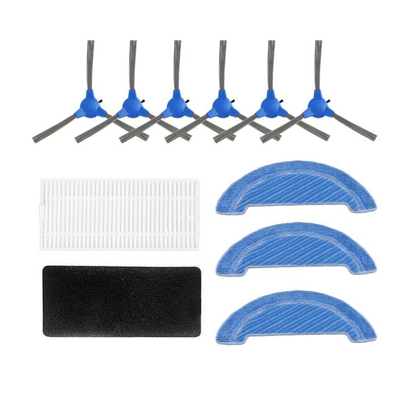Cepillo lateral de filtro de polvo, mopa, mopa, Kits de reemplazo para Cecotec Conga 1090, repuestos de aspiradora robótica