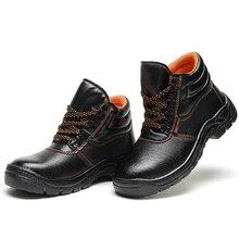 Bottes de sécurité en cuir pour hommes, chaussures de travail avec bout en acier, collection chaussures pour hommes, chaussures indestructibles, collection chaussures hautes