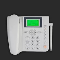 wireless desk telephone with antenna caller id landline office home sim card phone with phone numbers storage strong signal