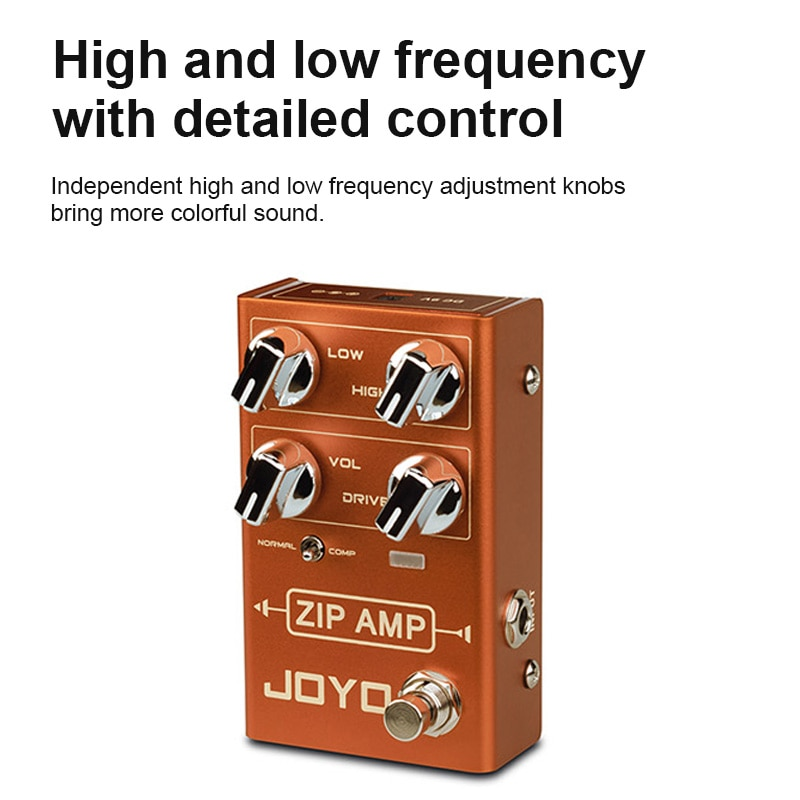 Zip Amp Guitar Effects Compressed Overdrive Sound Electric Guitar Effects Adjustable Compression Level Joyo R04 Guitar Effects enlarge