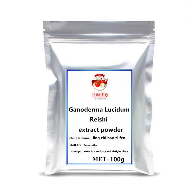 Gran oferta, cáscara pura Natural rota Ganoderma Lucidum cafe lingzhi reishi, polvo de extracto de hongo, mejora la salud inmune