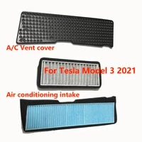 ac vent cover for tesla model 3 2021 air conditioning intake engine room protective cover filter screen isolation network