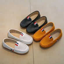 Size 21-36 Spring Autumn Children Shoes Girls Breathable Moccasins Kids Soft PU Leather Shoes Boys S