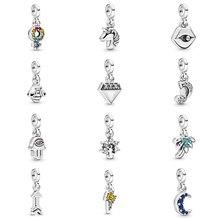 New  Fashion 100% S925 Sterling Silver Energy Lightning Fantasy Fantasy Unicorn Charm ME Series DIY Bracelet Necklace Threading
