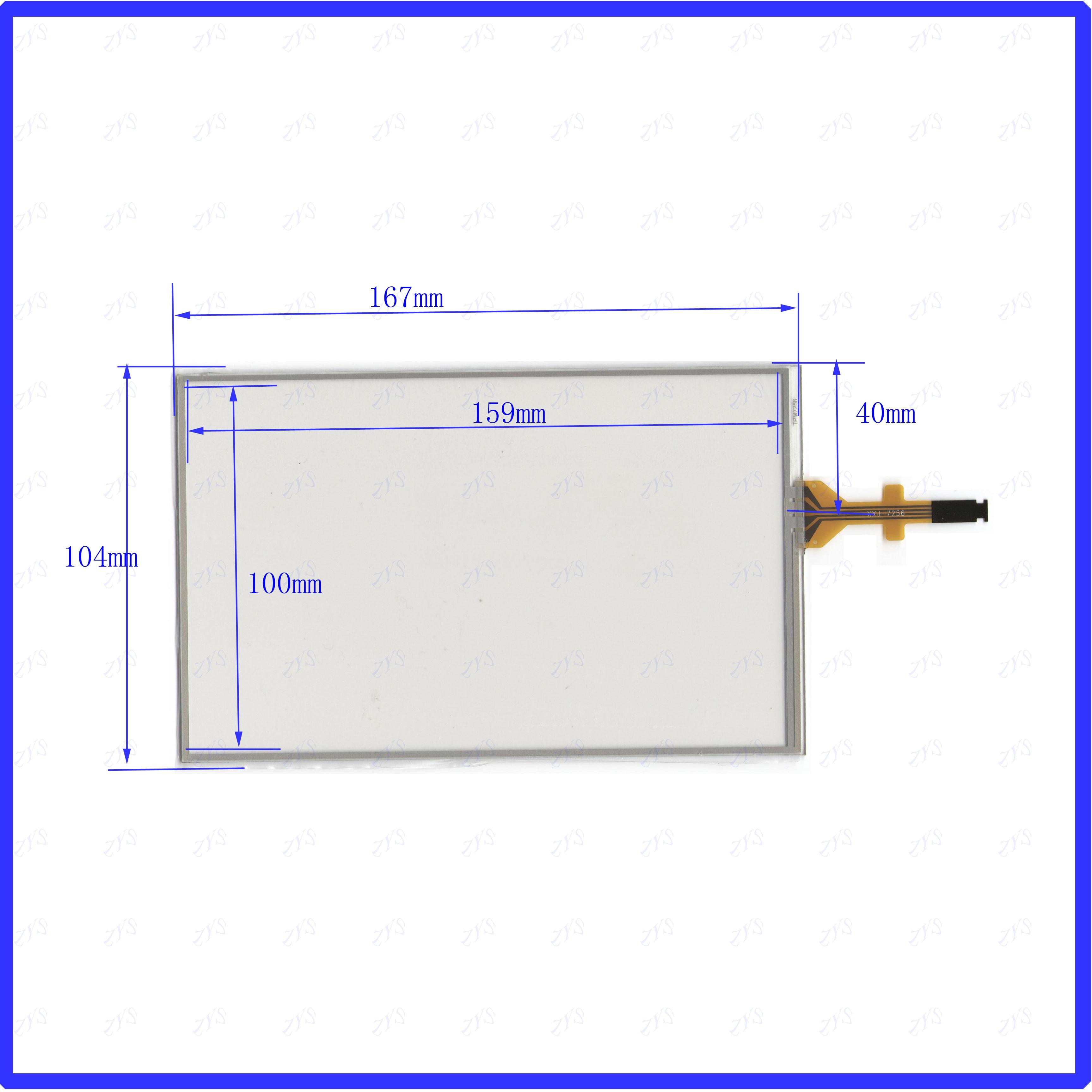 Zhiyusun 167*104mm GCX156AKM-E 7 polegada digitador sensor de vidro do painel da tela de toque peugeot 208 2008 308 citroen c5 c4l c3xr