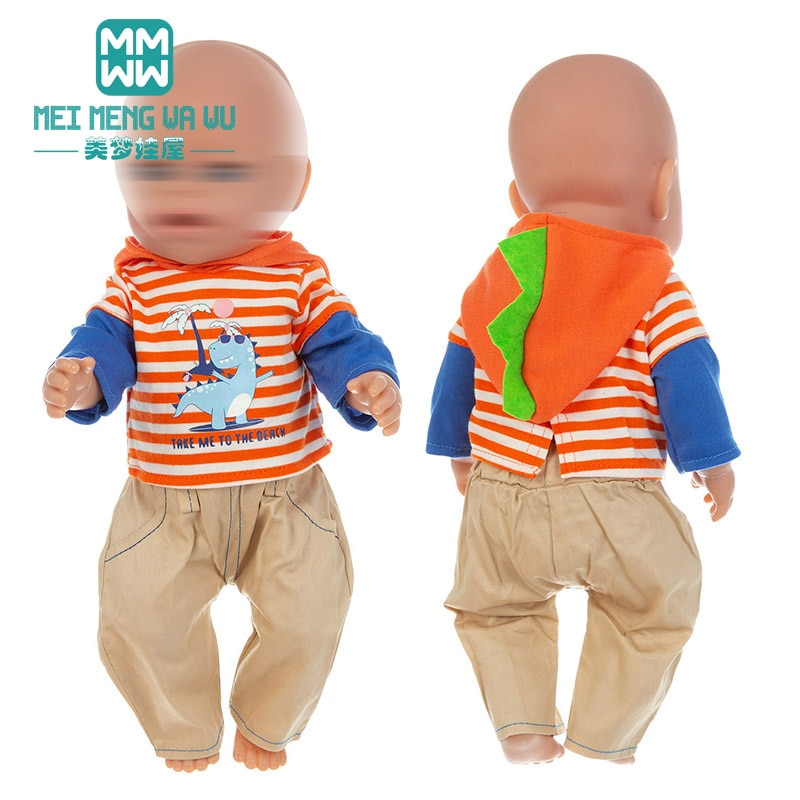 15 styles NEW cartoon suit, down jacket, for dolls fits 43cm new born doll and American doll Christm