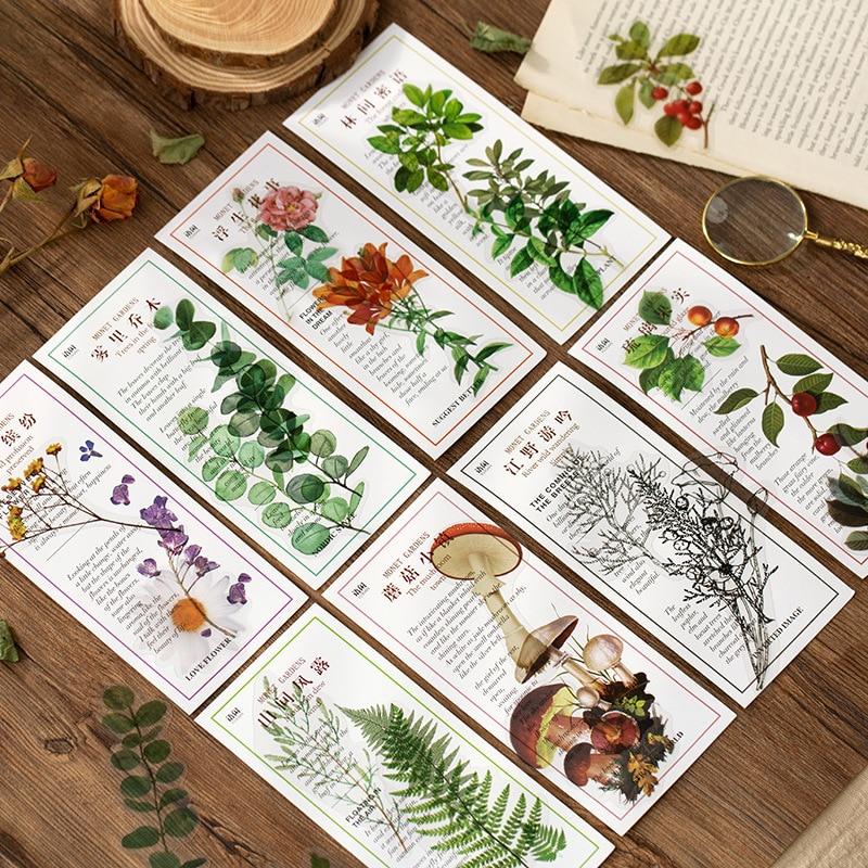 40 pçs/lote Kawaii Papelaria Adesivos Jardim planta DIY Craft Scrapbooking Álbum Junk Planejador Diário Revista Feliz Adesivos