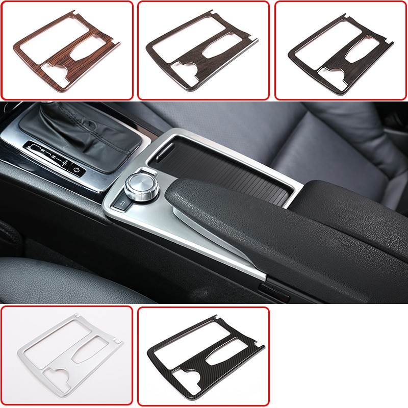 For Mercedes Benz C Class W204 2008-2014 Car ABS Central Console Cup Holder Frame Trim E Class Coupe C207 W212 2010-12