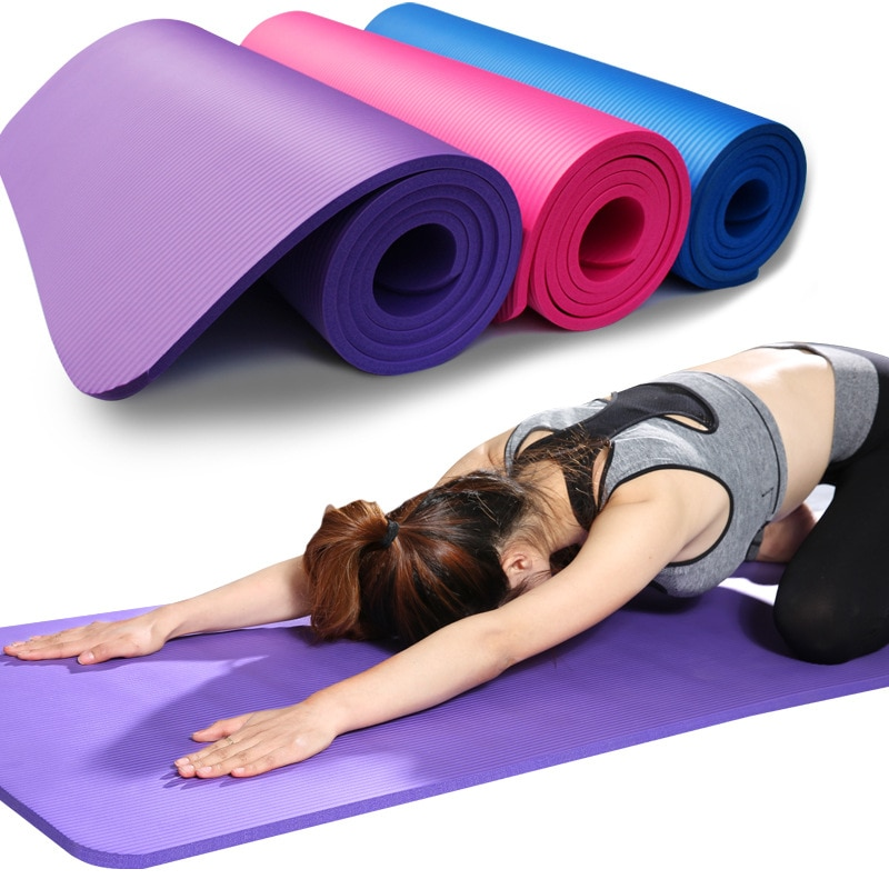 tpe yoga mat 6mm for beginner non slip mat yoga sports exercise pad with position line for home fitness gymnastics pilates mats Yoga Mat 10mm For Beginner Non-slip Mat Yoga Sports Exercise Pad With Position Line For Home Fitness Gymnastics Pilates Mats