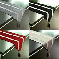 1pcs modern table runners with tassel diamond party home table decorations for wedding birthday baby shower decor