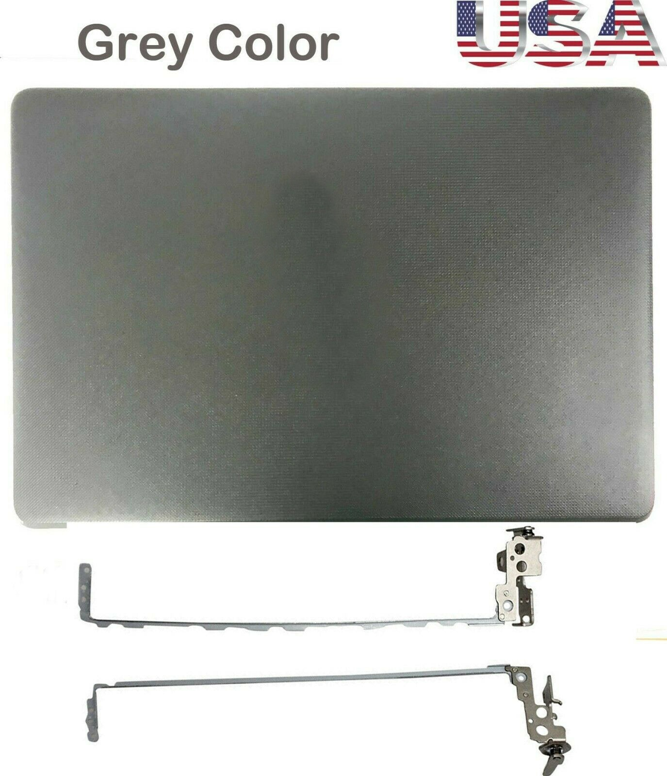 JIANGLUN nuevo para HP 15BS 15-BS 15-BW cubierta trasera gris humo 924894-001 + bisagra 925297-001 + bisel