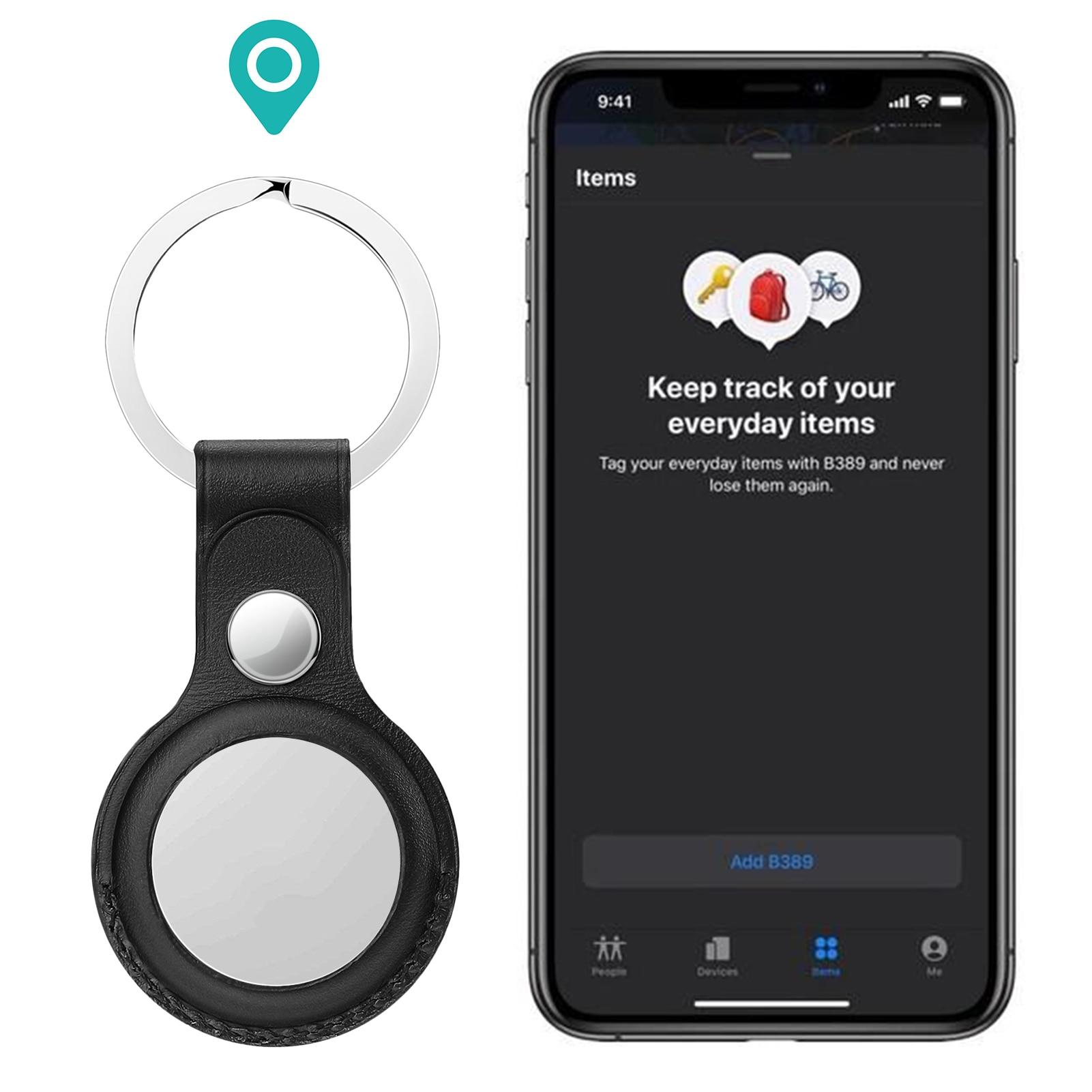 Per Apple AirTag custodia protettiva in pelle custodia portachiavi per localizzatore Apple Tracker dispositivo anti-smarrimento custodia protettiva per AirTag