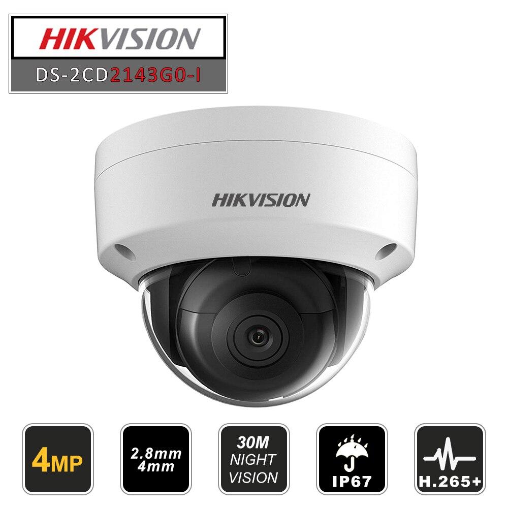 Hikvision Original Dome IR Fest Netzwerk Sicherheit Nacht Version CCTV IP Kamera DS-2CD2143G0-I IP67 4MP CMOS mit SD Card Slot