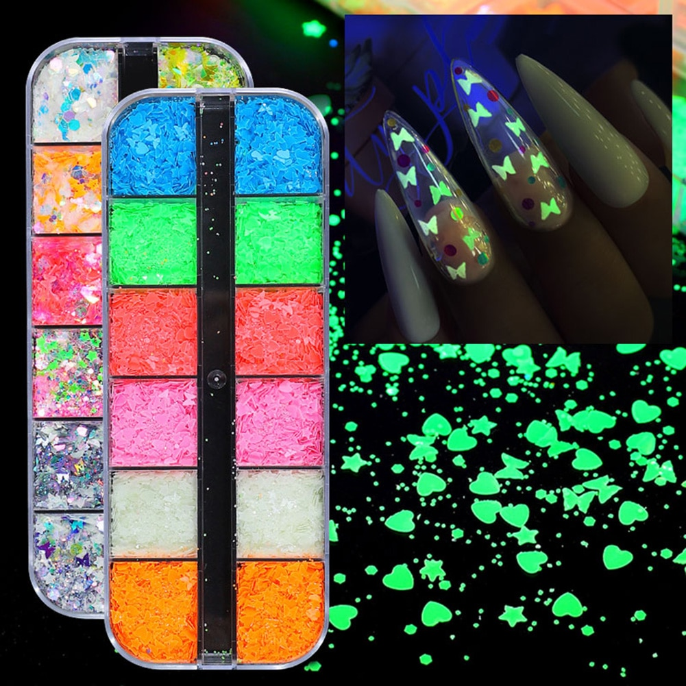Дизайн ногтей 12 вариантов оформления искусства цветов Искусство флэшки акриловые пайетки наклейки для ногтей ультратонкий яркий свет