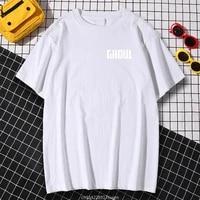 kohpweran creativity oversize t shirt gatokyo ghoul white printed t shirt loose home tops aesthetic clothing o neck