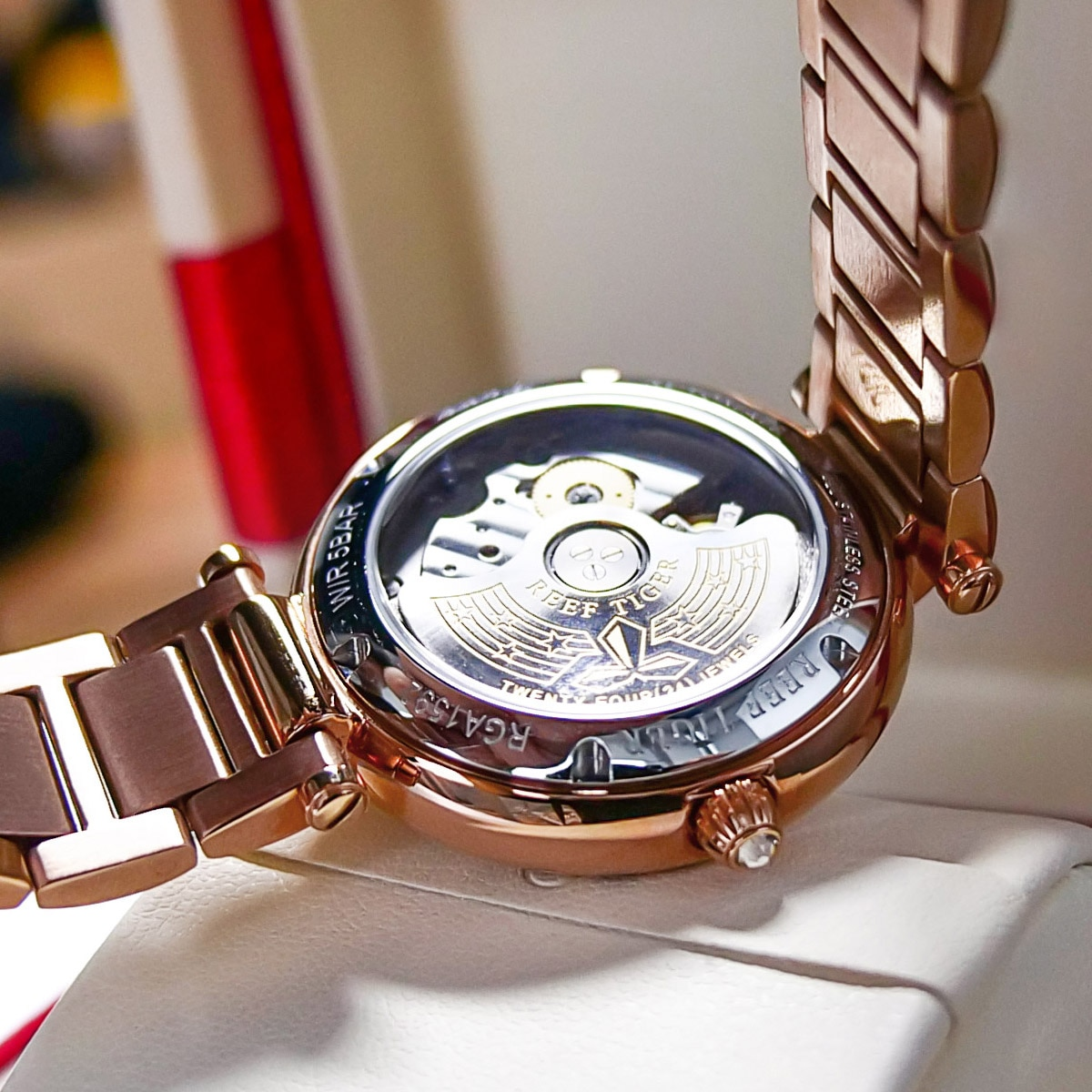 2021 Reef Tiger Fashion Glaxy Watches And Fashion Necklace Jewelry Set enlarge