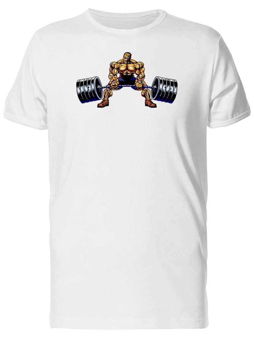 2020 algodão camiseta masculina homem com barbell deadlift menlift s teeimage por homme t-shirt tamanhos grandes