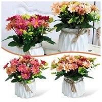 Pendentif de fleur en soie  fausse plante en pot  decoration de bureau  bonsai pour decor de maison