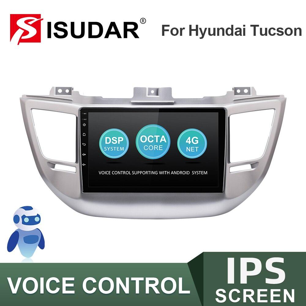 ISUDAR-راديو السيارة متعدد الوسائط ، Android ، GPS ، DVR ، AHD ، 2GB RAM ، 32GB ROM ، No 2din ، لسيارة Hyundai/Tucson 3 (2015-2018) ، V57S