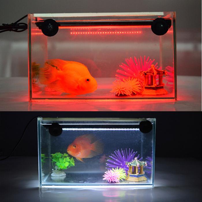 EU Plug Aquarium Fish Tank LED Light RGB Colorful Underwater Submersible Light Bar Waterproof 5050 SMD Aquatic Lamp With Remote