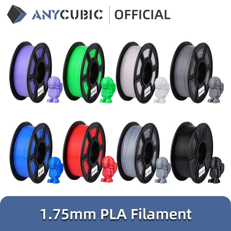 ANYCUBIC PLA خيوط 1.75 مللي متر البلاستيك للطابعة ثلاثية الأبعاد 1 كجم/لفة المطاط المواد الاستهلاكية ل FDM ثلاثية الأبعاد الطباعة ميجا S Vyper