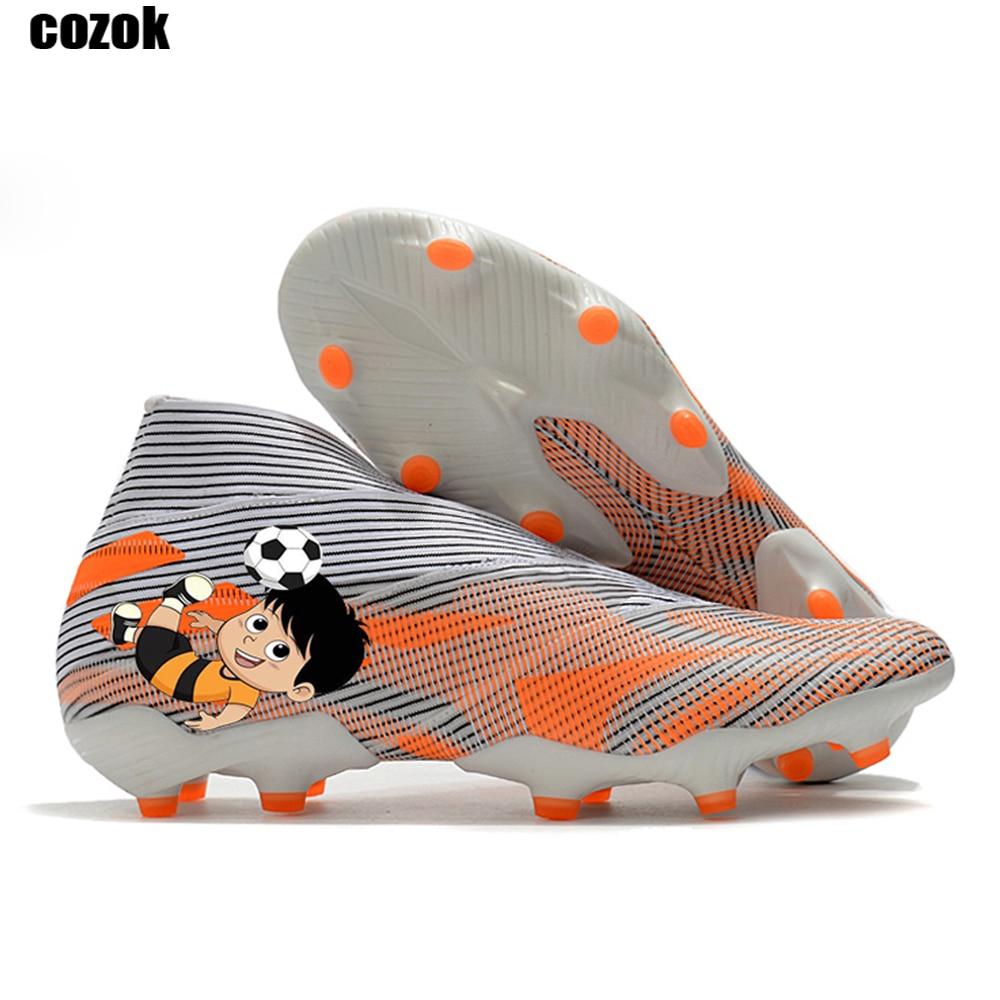 Оптовая продажа Бесплатная доставка Новинка Nemeziz 19,1 FG Мужская Уличная футбольная обувь Нескользящая тренировочная обувь футбольные бутсы