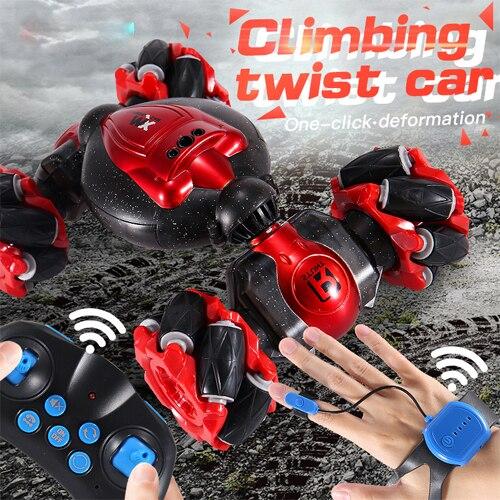 RC cascadeur voiture montre contrôle geste Induction déformable électrique RC dérive voiture jouets enfant cadeaux avec lumière LED jouets interactifs
