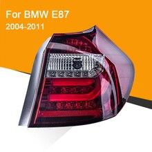 Assemblage de feu arrière pour E87 E81 120 130-2004 rouge noir   1 paire, Signal de rotation séquentiel, feu de marche arrière