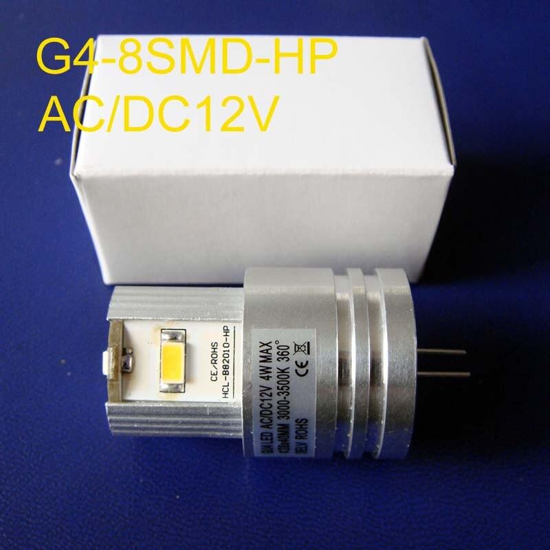 Hohe qualität, 12V 4W G4 led lampe, G4 led-leuchten, G4 led lesen lichter, GU4 12v,G4 birne, G4 Led,AC12V G4 Licht, freies verschiffen 50 teil/los