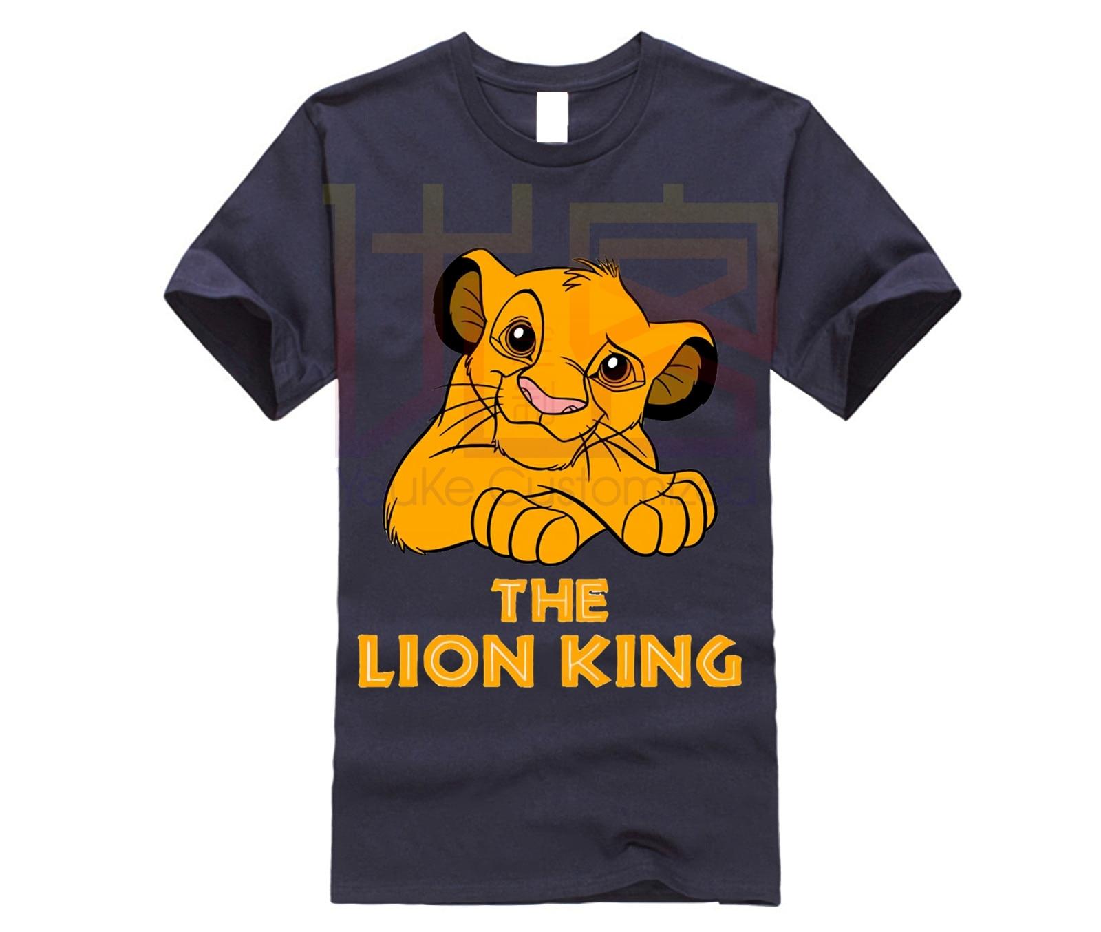 Camiseta para hombre del Rey León, imagen de grupo de dibujos animados gigantes, camiseta de dibujos animados Unisex, nueva camiseta de moda, envío gratis, divertido