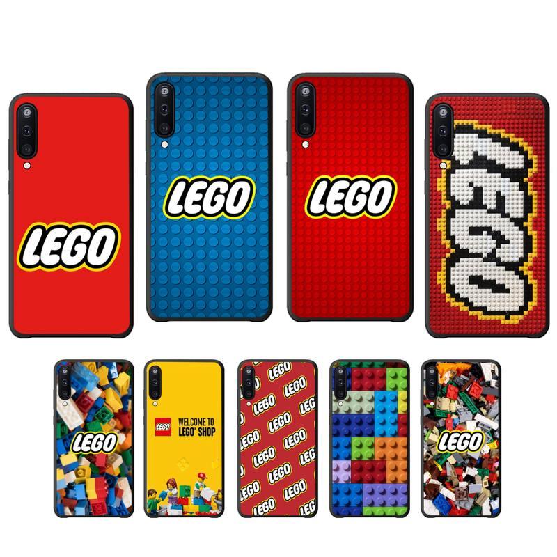 Juguetes Legos bloque suave TPU negro Funda para Samsung galaxy A01 A10 A31 A51 A71 A91 A10S A30S m20 coque